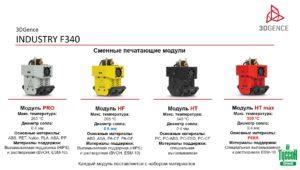 3D-принтер 3DGence INDUSTRY F340 - сменные печатающие модули