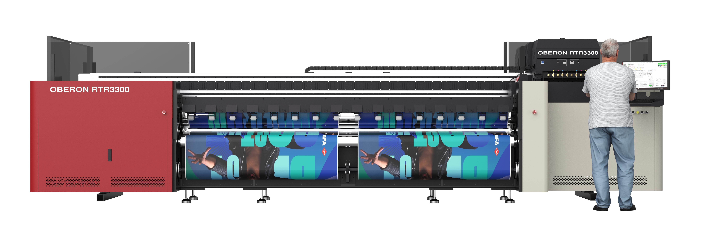 Agfa Oberon RTR3300 - ультрафиолетовый широкоформатный рулонный принтер, новинка 2020 года