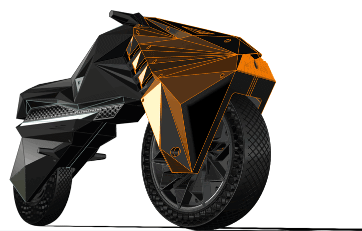NERA - первый в мире электромотоцикл, созданный с помощью 3D-печати на крупноформатном 3D-принтере BigRep - фото 1
