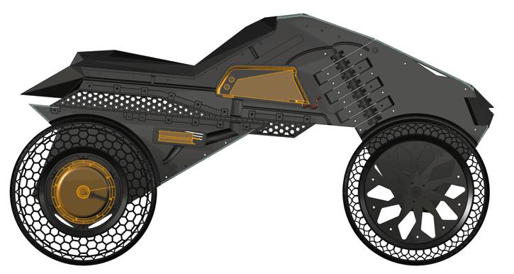 NERA - первый в мире электромотоцикл, созданный с помощью 3D-печати на крупноформатном 3D-принтере BigRep - фото 2