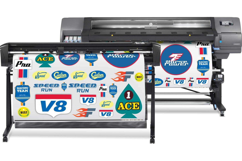 Программно-аппаратный комплекс для широкоформатной печати и плоттерной резкиHP Latex 335 Print and Cut Solution - фото 1