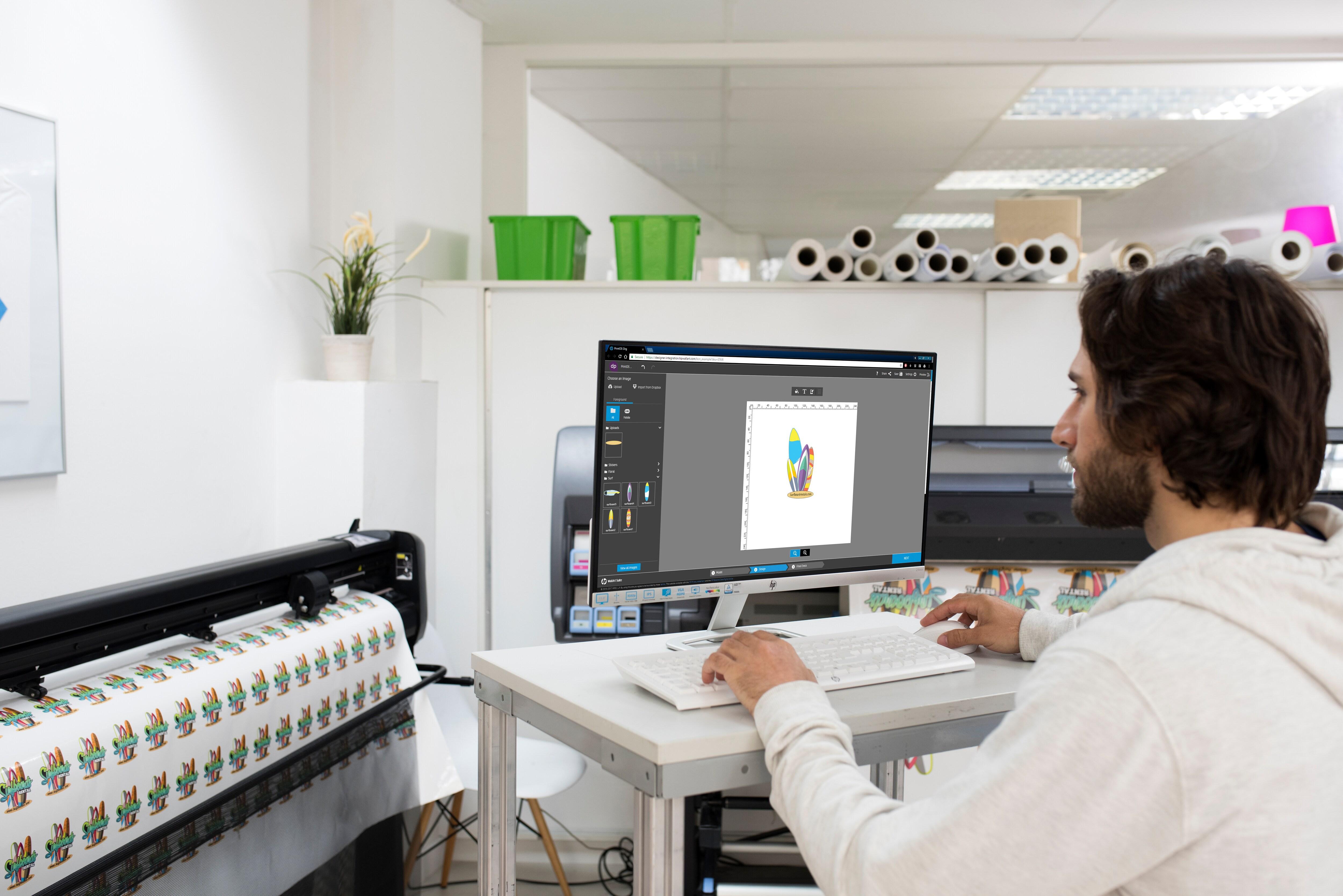 Программно-аппаратный комплекс для широкоформатной печати и плоттерной резкиHP Latex 335 Print and Cut Solution - фото 6
